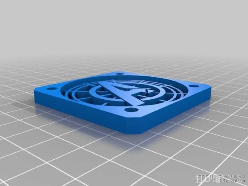 50毫米的风扇罩 3D模型  图1