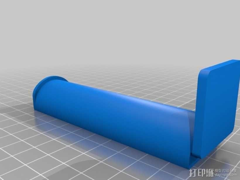 简易的线轴支撑架 3D模型  图1