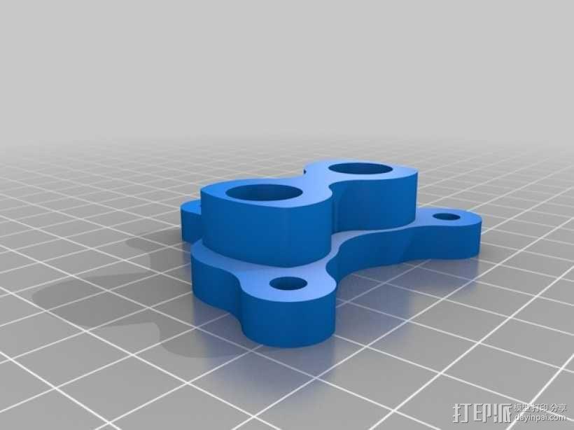 双喷头支架 3D模型  图1