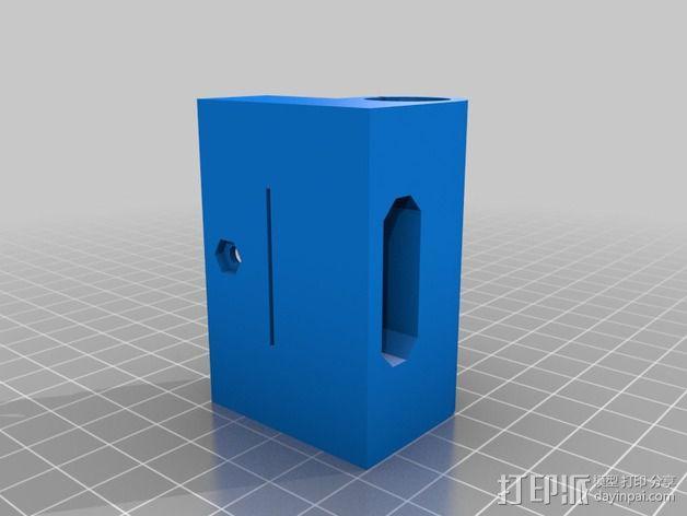 Prusa I3打印机X轴防震器 3D模型  图2