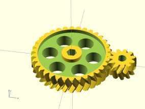 挤出机齿轮 3D模型