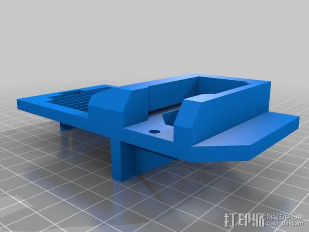 Bulldog_XL/E3D喷头支架 3D模型  图2