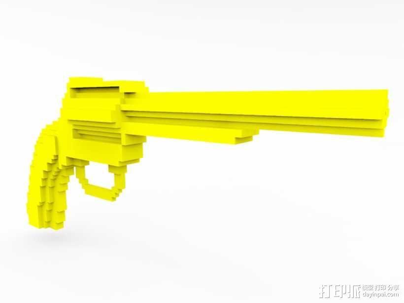 手枪 水枪 3D模型  图1