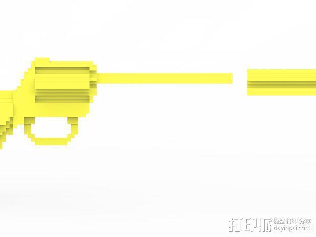 手枪 水枪 3D模型  图2