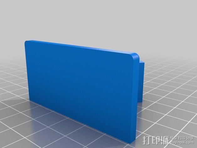 WiFi摄相机支撑框 3D模型  图2