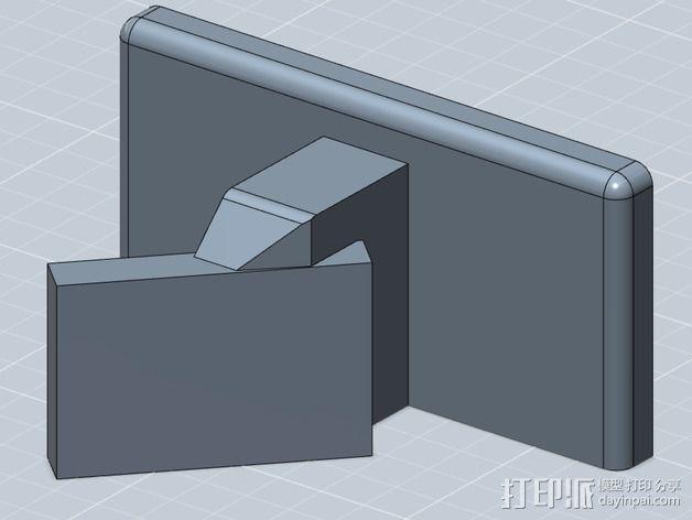 WiFi摄相机支撑框 3D模型  图1