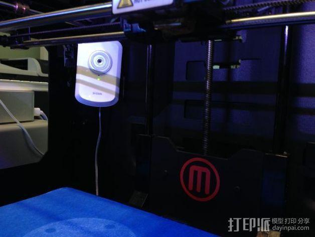 WiFi摄相机支撑框 3D模型  图4