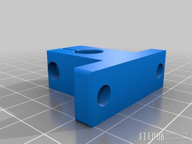 直线导轨支撑器 3D模型  图2