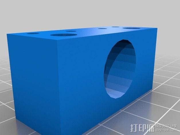 J-Head 式挤出机适配器 3D模型  图2