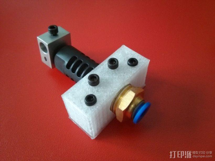 J-Head 式挤出机适配器 3D模型  图1