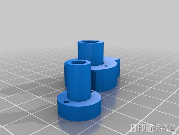 SmartRap 打印机的线轴支撑 3D模型  图1