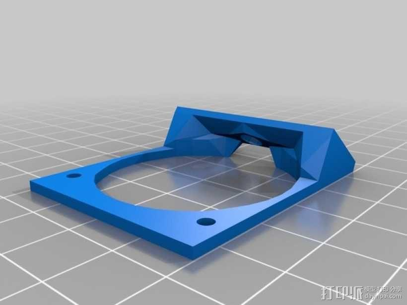 E3D喷头固定架 3D模型  图3