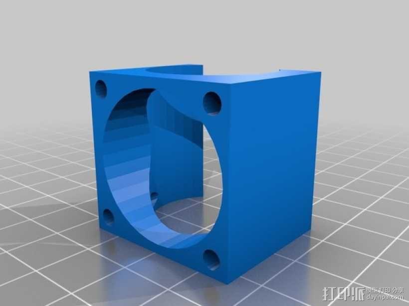 E3D喷头固定架 3D模型  图4