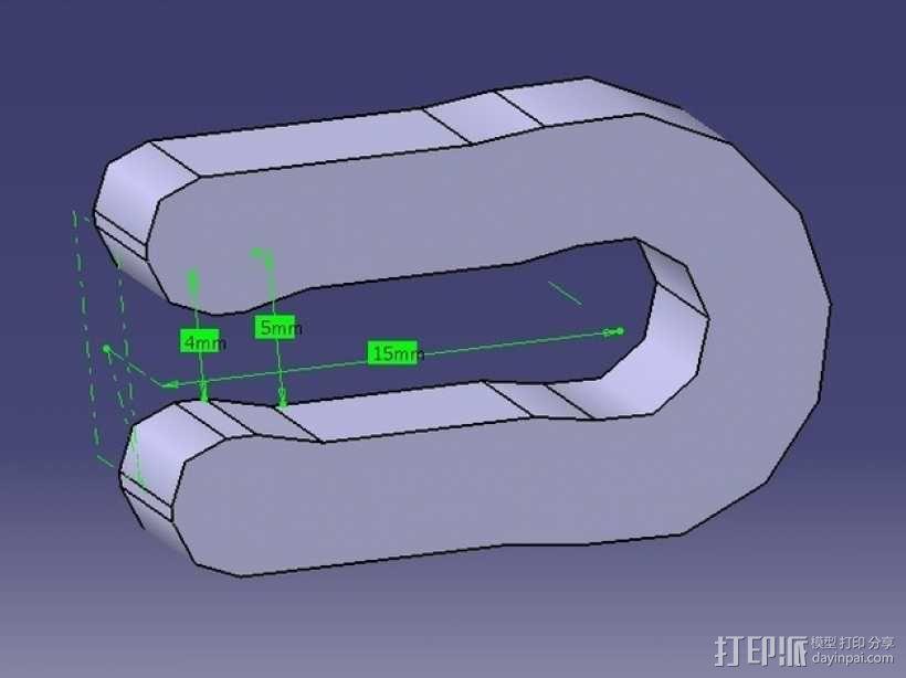热床夹 3D模型  图2