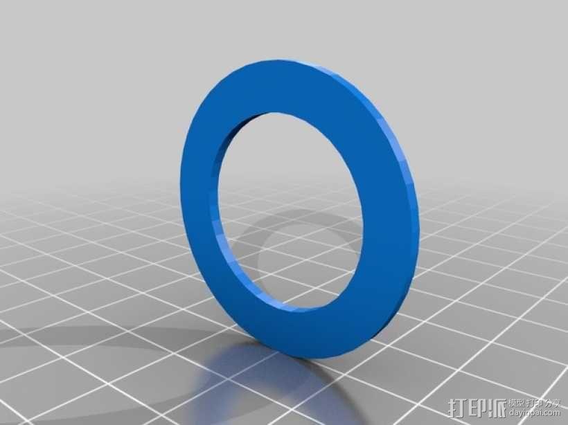 Printrbot Simple打印机的线轴支撑器 3D模型  图5