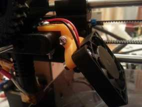 可调节40毫米的风扇支架 3D模型