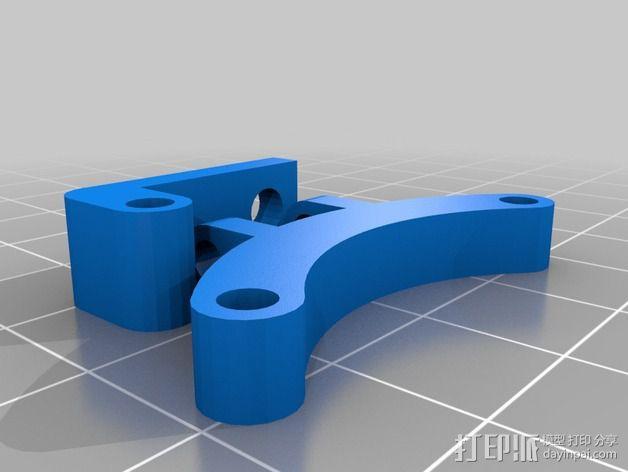 可调节40毫米的风扇支架 3D模型  图2