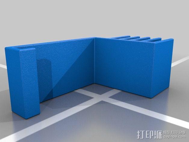 Replicator 2打印机上的摄像头支架 3D模型  图2