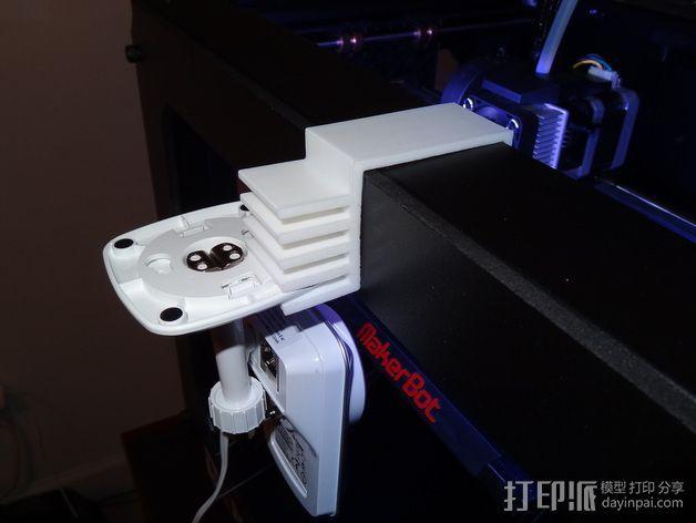 Replicator 2打印机上的摄像头支架 3D模型  图3