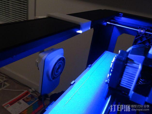 Replicator 2打印机上的摄像头支架 3D模型  图4