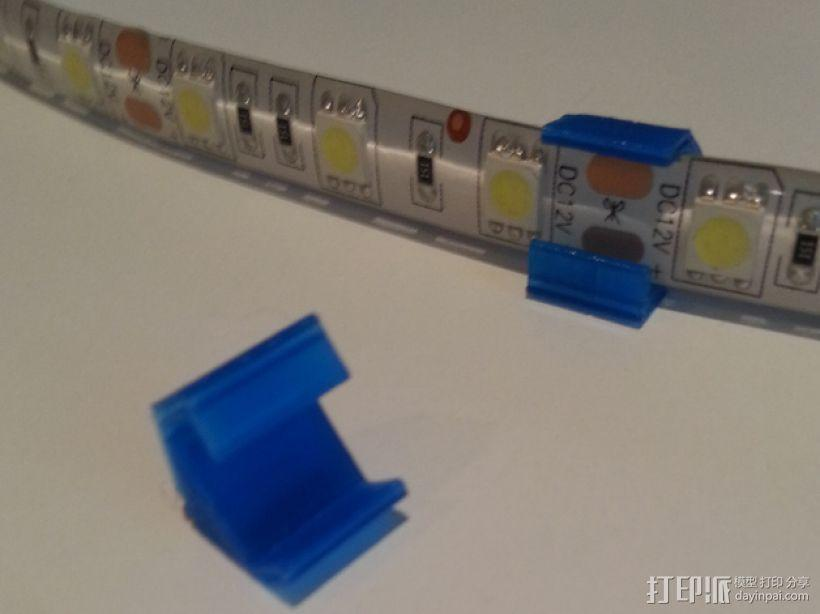 LED灯固定框 3D模型  图1