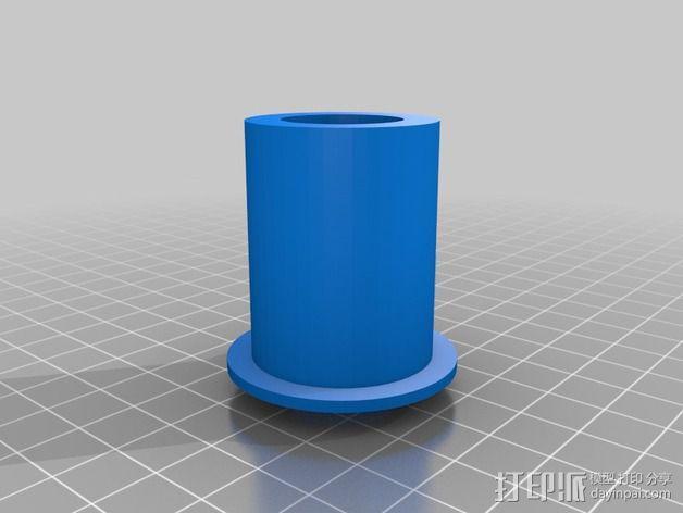 Leapfrog Creatr打印机的线轴架 3D模型  图1