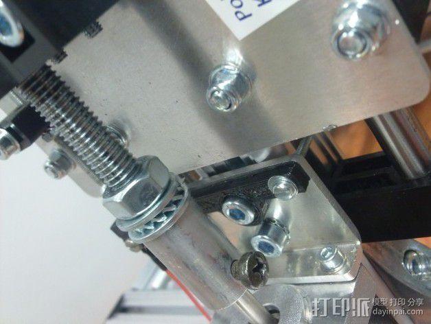 限位开关支撑架 3D模型  图2