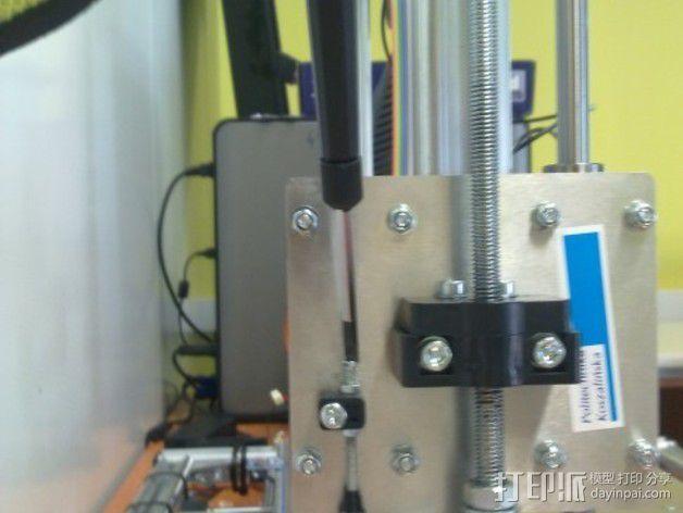 限位开关支撑架 3D模型  图3