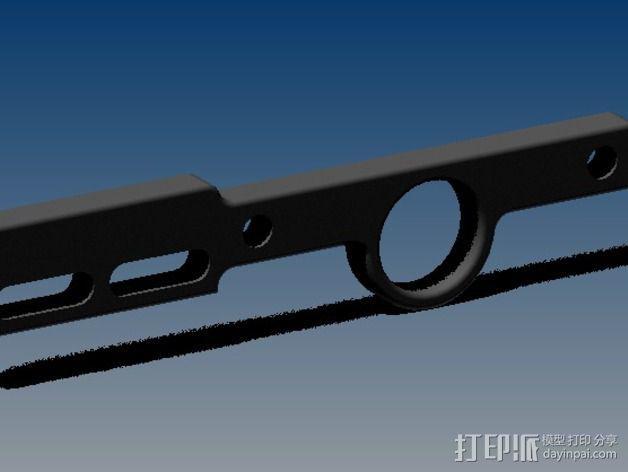 限位开关支撑架 3D模型  图5