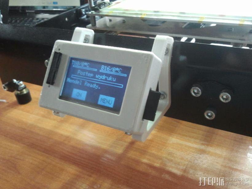 LCD液晶显示屏保护框 3D模型  图5