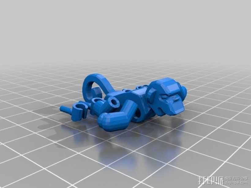 乐高猴子 3D模型  图1