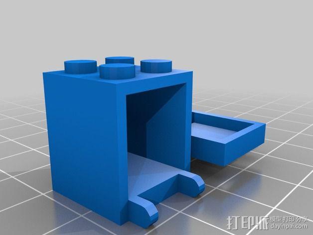 乐高积木邮箱 3D模型  图1