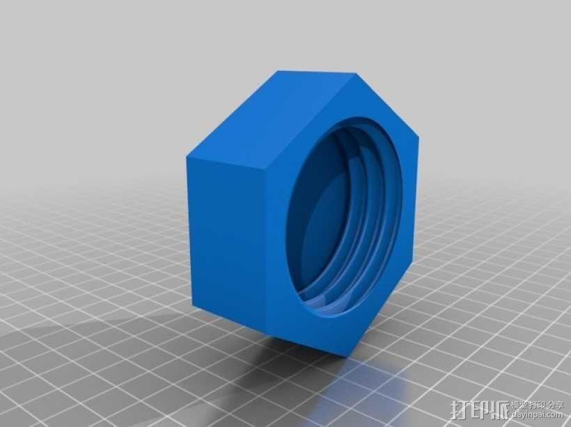 壁挂式线轴架 3D模型  图2