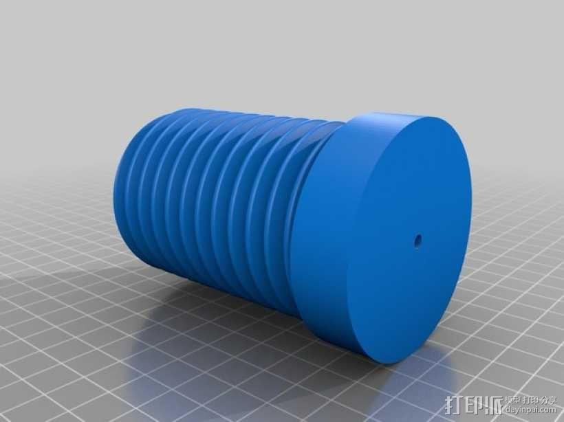 壁挂式线轴架 3D模型  图3