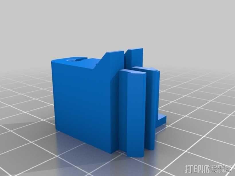 线材管夹 3D模型  图1