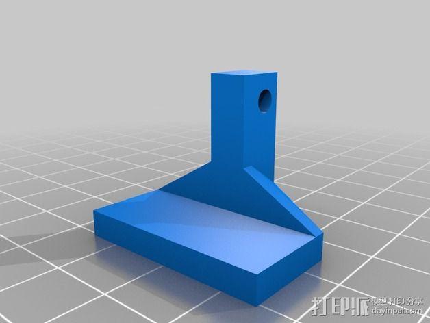 喷头风扇支架 3D模型  图4