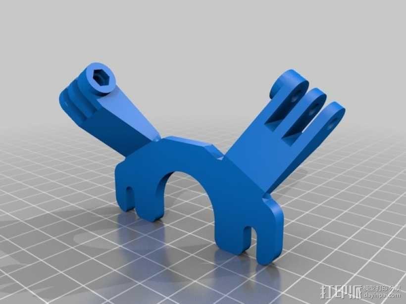 挤出机风扇支架 3D模型  图1