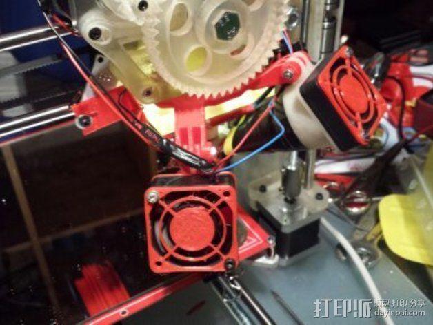 挤出机风扇支架 3D模型  图4