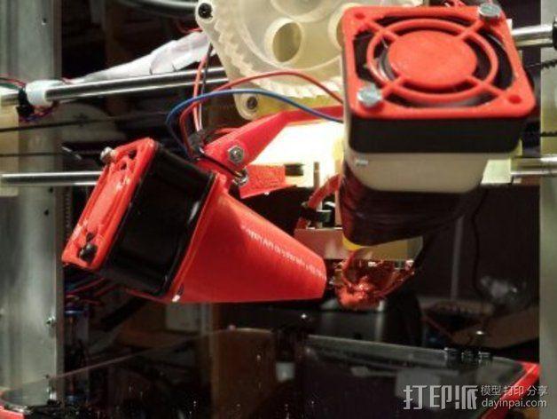 挤出机风扇支架 3D模型  图3
