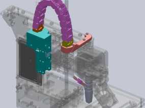 Printrbot Simple打印机的电缆收纳器 3D模型