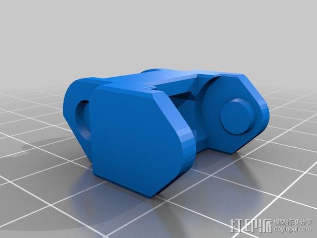 Printrbot Simple打印机的电缆收纳器 3D模型  图2
