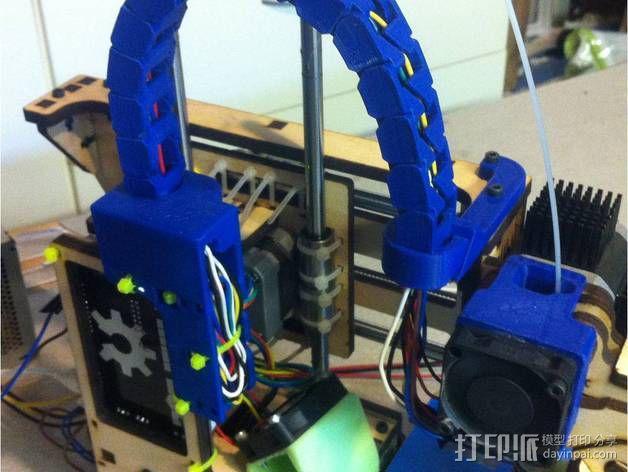 Printrbot Simple打印机的电缆收纳器 3D模型  图4