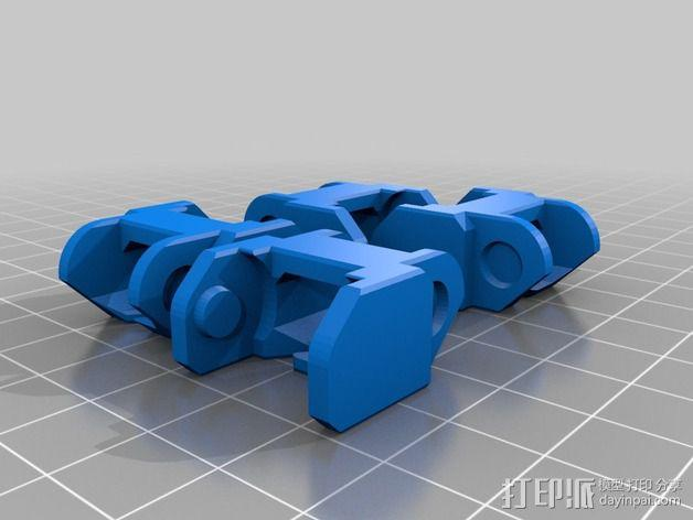 Printrbot Simple打印机的电缆收纳器 3D模型  图12
