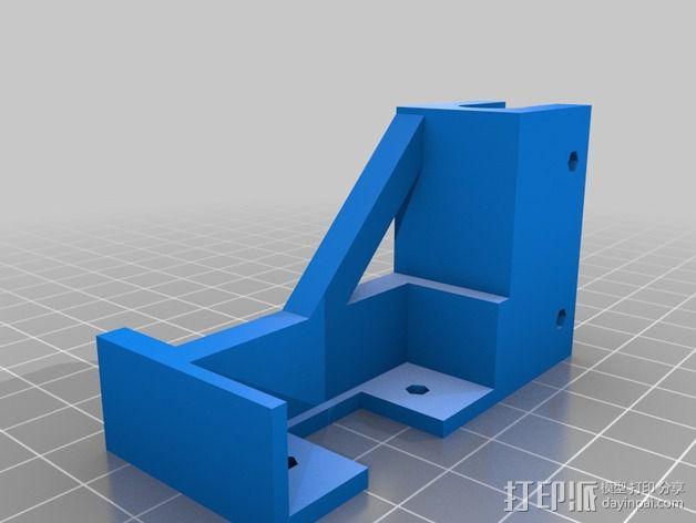 prusa i3打印机的USB支架 3D模型  图2