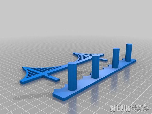 金门大桥钥匙架 3D模型  图2