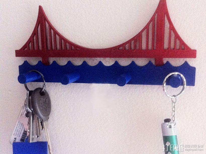 金门大桥钥匙架 3D模型  图1