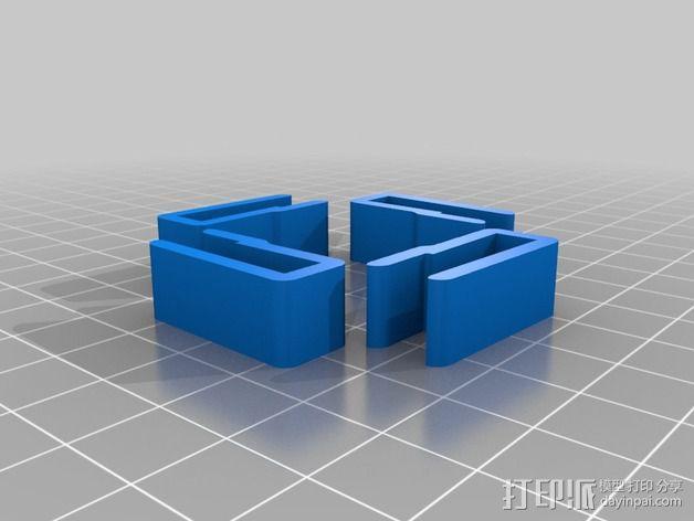 Printrbot Simple打印机的玻璃板夹 3D模型  图2