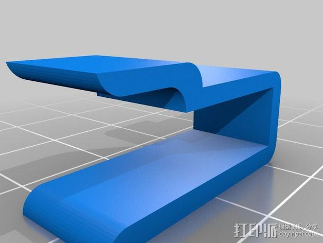Printrbot Simple打印机的玻璃板夹 3D模型  图3