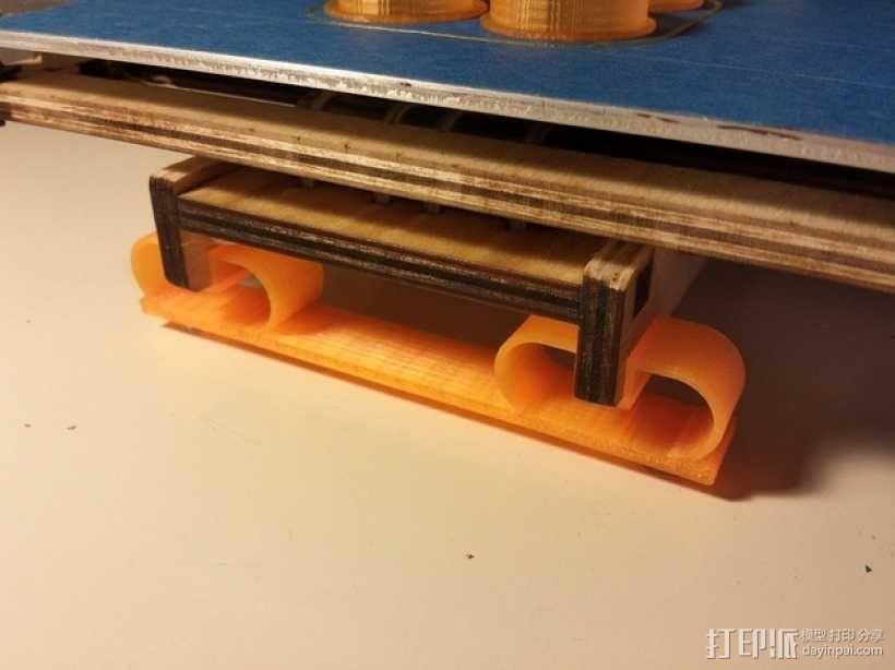 打印机悬浮垫 3D模型  图2
