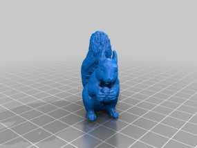 松鼠 3D模型